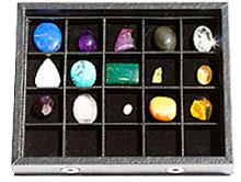 ASG02 クリスタルコレクション (天然石15種・ケース入り・説明書付き)<オーラソーマ・ジェムストーンセット>